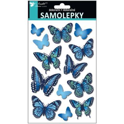 Öntapadós matrica 3D pillangók 21 x 14 cm