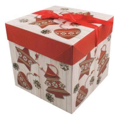 Ajándék doboz 10,5x10,5x10,5 cm