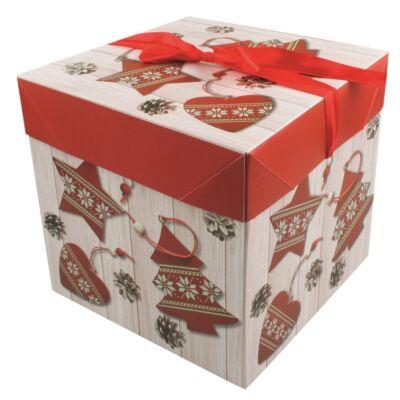 Ajándék doboz 16,5x16,5x16,5 cm
