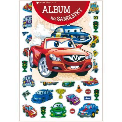 Album öntapadós matricákra, 16 x 29 cm, 50 db hologramos matrica, autók