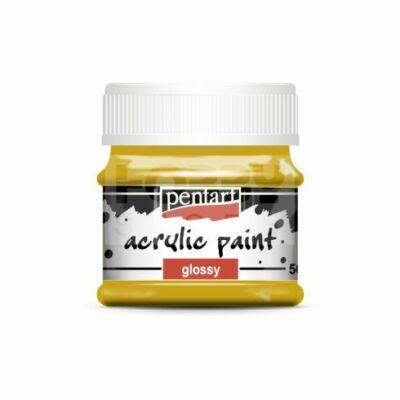 Fényes akril festék 50 ml - oliva
