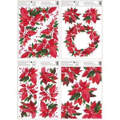 Karácsonyi  sztatikus abladekorációs matrica 30x42 cm