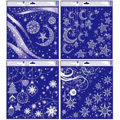 Karácsonyi  sztatikus abladekorációs matrica 30x33,5 cm