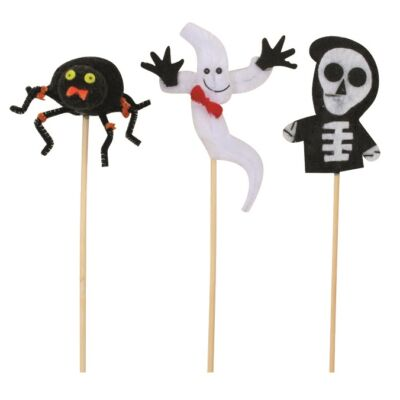 Halloween figura 6 cm, hurkapálcikávaé