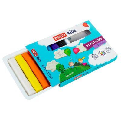 PLASTICINE gyurmakészlet, színes 8 db, 128 g