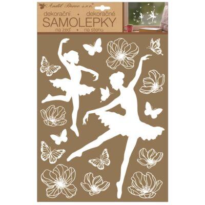 Falmatrica fehér balerinák 27,5 x 41 cm