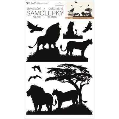 Falimatrica-  Fekete oroszlánok 24 x 42 cm