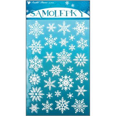 Karácsonyi öntapadós matrica 14,5 x 25 cm