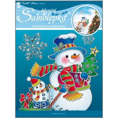 Karácsonyi öntapadós matrica 18,5 x 24 cm