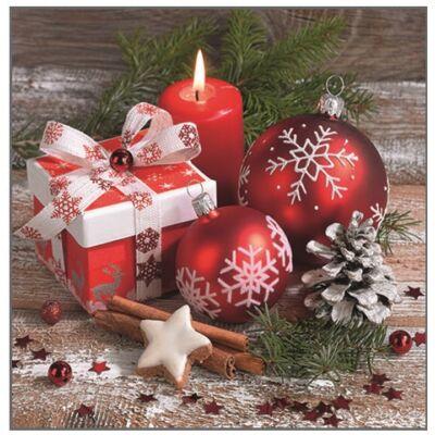 Karácsonyi dekor szalvéta 3 x 30 cm 20 db/csomag