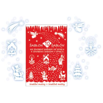 9 db sablon hó sprayhez, 31 x 21 cm