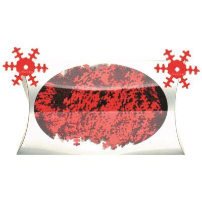 Karácsonyi mintás flitter 20 g piros 1,8 cm