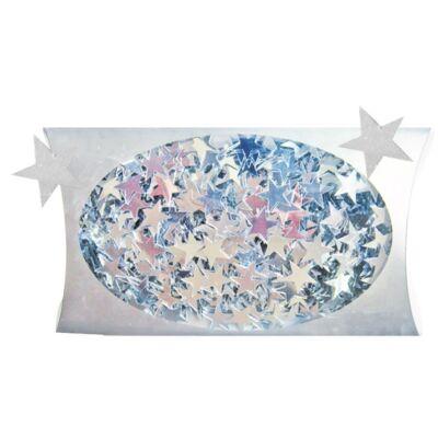 Karácsonyi mintás flitter 20 g 1 cm ezüst