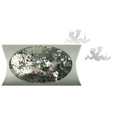 Karácsonyi mintás flitter 20 g ezüst 2 cm