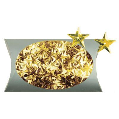 Karácsonyi mintás flitter 20 g arany 1,5 cm
