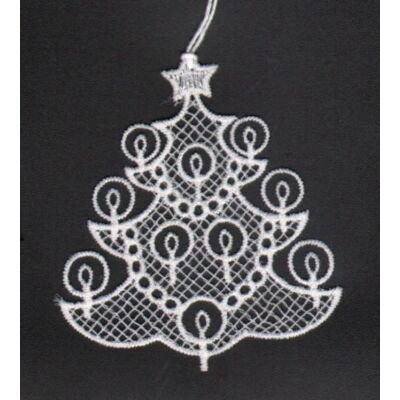 Karácsonyi horgolt dekoráció 8 cm