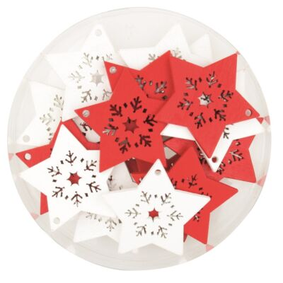 Karácsonyi fa dekoráció 4,5 cm 16 db/csomag