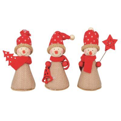 Karácsonyi Juta hóember 9 cm  1 db