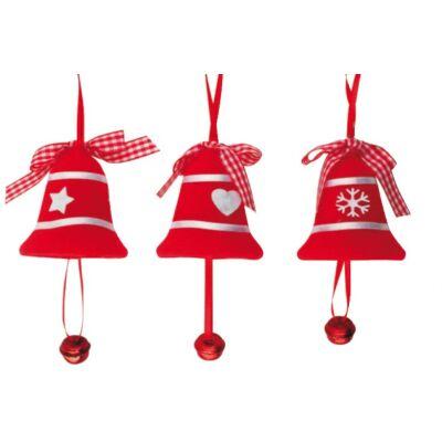 Karácsonyi filc dekoráció 10 cm 1 db