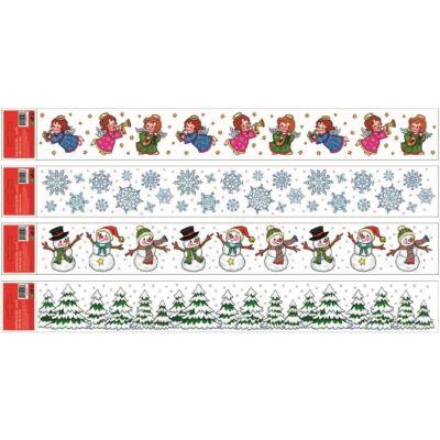 Karácsonyi  sztatikus abladekorációs matrica 55x7 cm