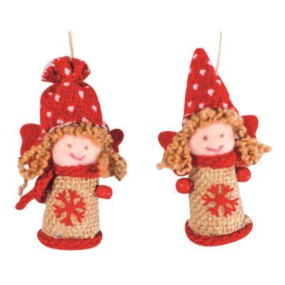 Karácsonyi textil angyal 7 cm  1 db