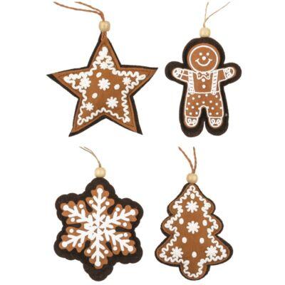 Karácsonyi filc dekoráció 10 cm1 db