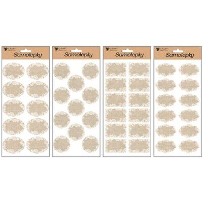 Címkézési matricák 28x14 cm, textil (zsákvászon)