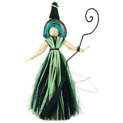 Boszorkány, kék hajjal, 20 cm