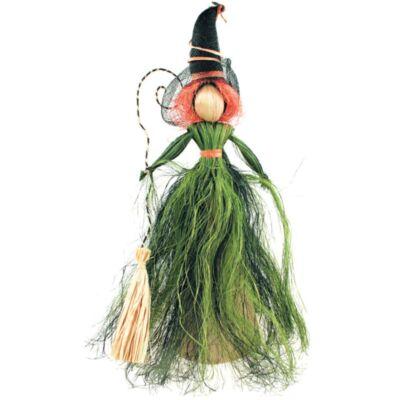 Boszorkány zöld szoknyával 30 cm