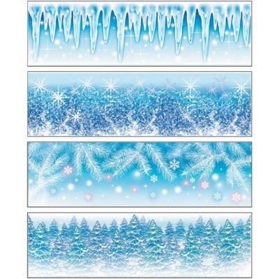 Statikus dekor ablakfólia 45 x 12 cm