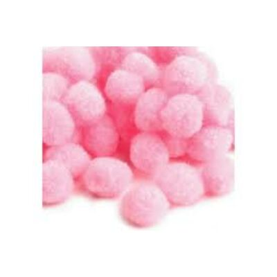 Pompom rózsaszín 2,5 cm 18 db/ csomag