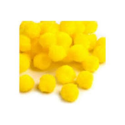 Pompom sárga 2,5 cm 18 db/ csomag