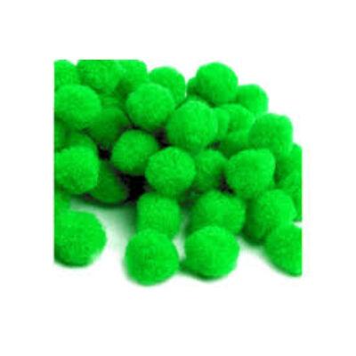 Pompom zöld 2,5 cm 18 db/csomag