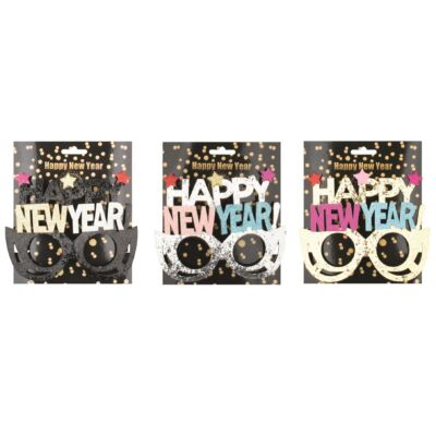 Szemüveg  HAPPY NEW YEAR felírattal 16 cm 1db