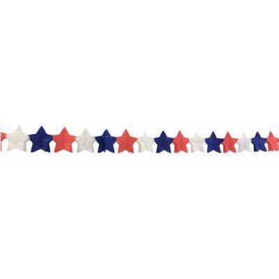 Girland, papír, 300 x 12 cm csillagok