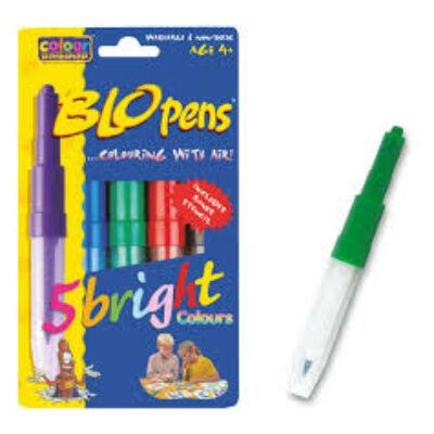 BLO Pens BRIGHT/5 fújós filctoll készlet papírra +1 sablon