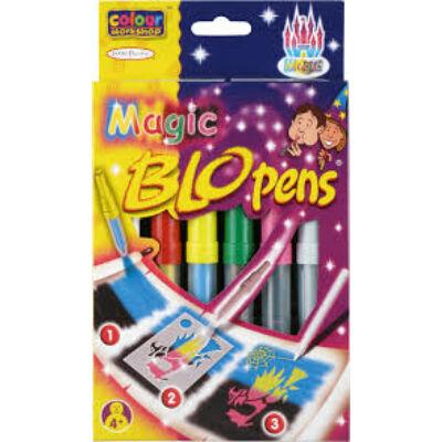 BLO Pens MAGIC/ 5+1  varázs - fújós filctoll készlet papírra +8 sablon