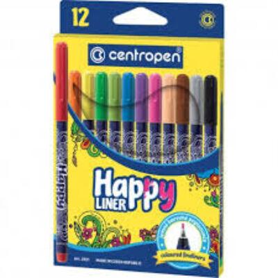 HAPPY LINER  tűfilc készlet /12 db, 0,3 mm