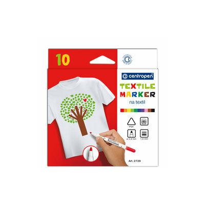 Centropen 2739/10 Fabric Markers Textilfilc 10db