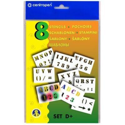 Sablon set 9996/D+  számok, betűk