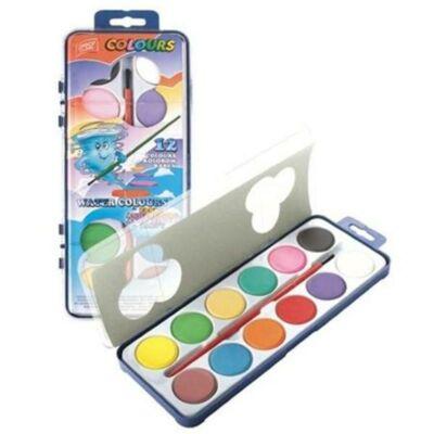 Vízfesték 12 színű 2,8 cm