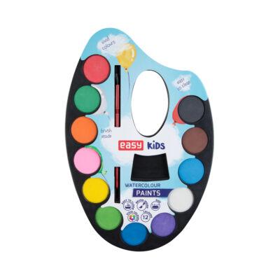 Vízfesték palettás 12 szín , 30 mm