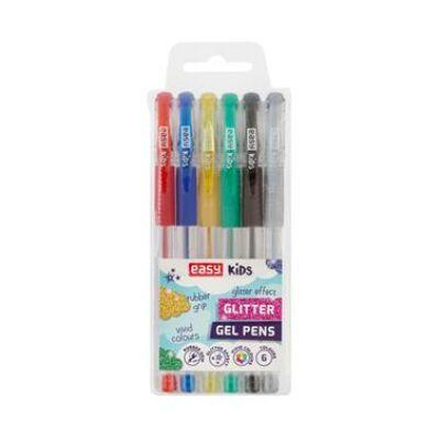 GLITTER-06-MIX  csillámos zselés toll készlet 1 mm