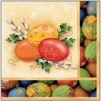 Húsvéti szalvéta, háromrétegű,  33 x33 cm, 20db/csomag