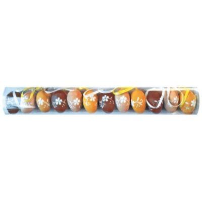 Műanyag húsvéti tojás, 4cm, 12db/csomag