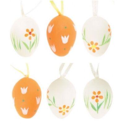 Műanyag húsvéti tojás, 4cm, 6db/csomag