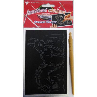 Ezüst színű lekaparható kép 10x15 cm