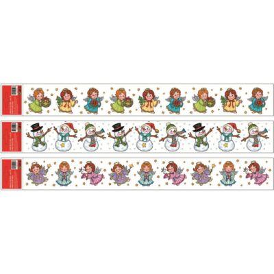 Karácsonyi sztatikus ablakdekorációs matrica 60 x 7 cm 1db
