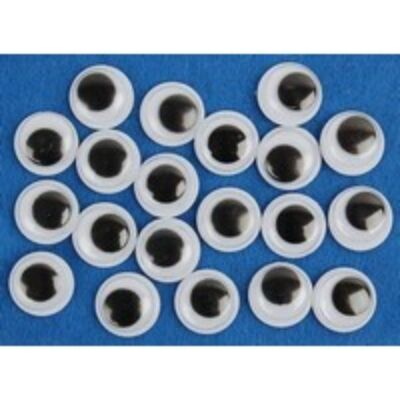 Öntapadós fekete mozgó szemek 20 mm