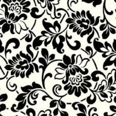 HERITAGE  BLACK   WHITE - öntapadós fólia, 45 cm x 2 m